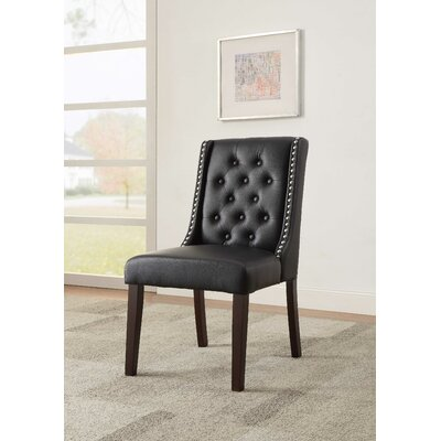 Knuth Upholstered Dining Chair Upholstery Color: Black