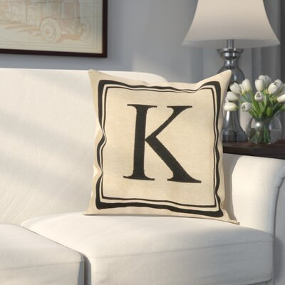 Beaver Creek Monogram Throw Pillow Letter: K