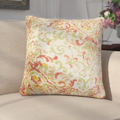 Annuziata Floral Cotton Throw Pillow Color: Rose/Green