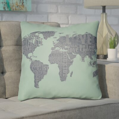 Bainum Square Throw Pillow Size: 20 H x 20 W x 4 D, Color: Seafoam