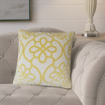 Adalric Geometric Cotton Throw Pillow Color: Banana