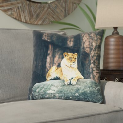 Thatcher Lioness Square Throw Pillow Size: 14 x 14