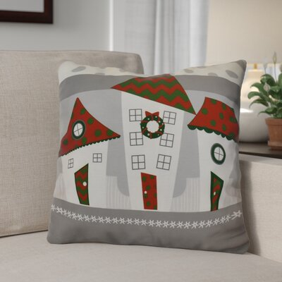 Decorative Holiday Geometric Print Throw Pillow Size: 20 H x 20 W, Color: Red