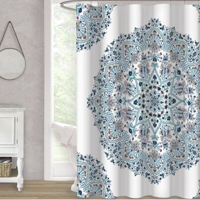 Hervey Bay Blooms 100% Cotton Shower Curtain