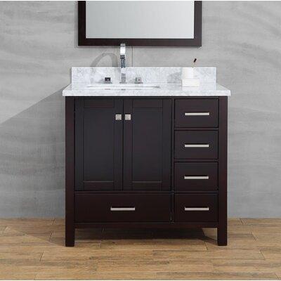 Joseline 37 Single Bathroom Vanity Set Base Finish: Espresso