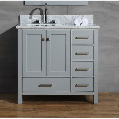 Joseline 37 Single Bathroom Vanity Set Base Finish: Gray