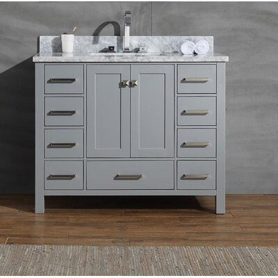 Joseline 43 Single Bathroom Vanity Set Base Finish: Gray