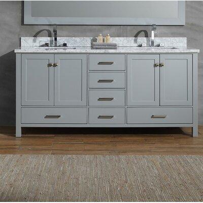 Joseline 73 Double Bathroom Vanity Set Base Finish: Gray