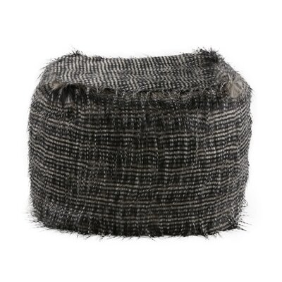 Krish Eyelash Pouf Upholstery: Black