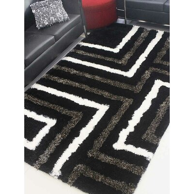 Haveman Hand-Tufted Black Area Rug Rug Size: Rectangle 8 x 10