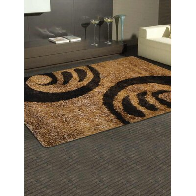 Henricks Hand-Tufted Gold/Brown Area Rug