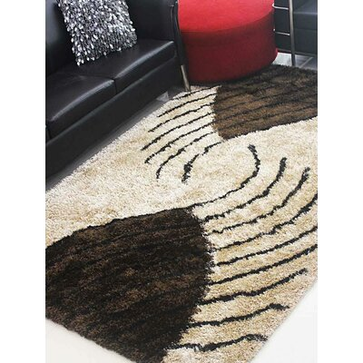 Henricks Hand-Tufted Beige/Brown Area Rug Rug Size: Rectangle 6 x 9