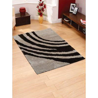 Haveman Hand-Tufted Black/Gray Area Rug Rug Size: Rectangle 4 x 6