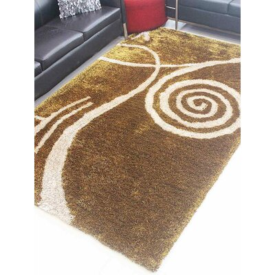 Henricks Hand-Tufted Brown Area Rug