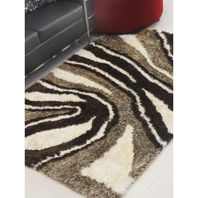 Henricks Hand-Tufted Brown/Black Area Rug