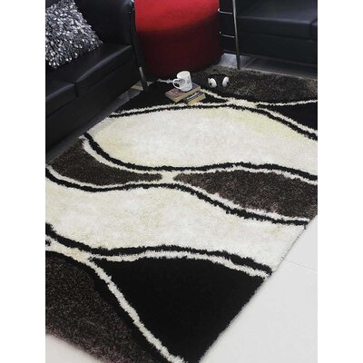 Henricks Hand-Tufted White/Black Area Rug