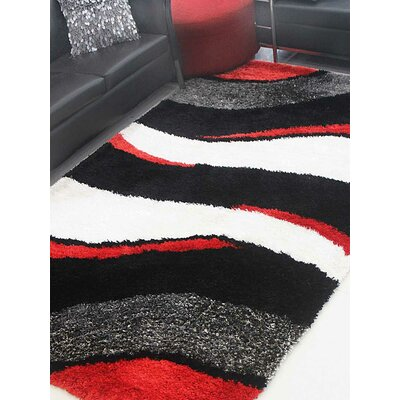 Henricks Hand-Tufted Black/White Area Rug Rug Size: Rectangle 8 x 10