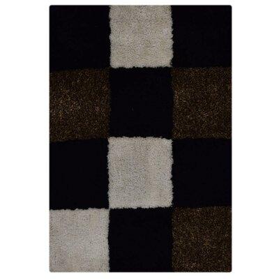 LeHouillier Hand-Tufted Black/White Area Rug