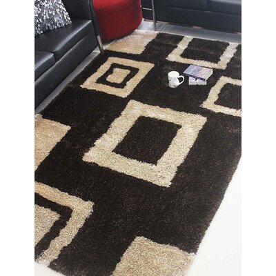 Henricks Hand-Tufted Brown/Beige Area Rug Rug Size: Rectangle 5 x 8