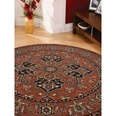 Lindauer Hand-Tufted Wool Red Area Rug