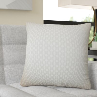 Recker Geometric Cotton Throw Pillow Color: Gray