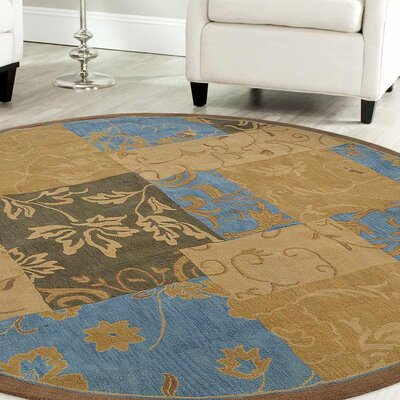 Crider Hand-Tufted Wool Brown Area Rug Rug Size: Round 5