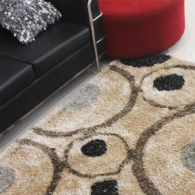 Henricks Hand-Tufted Brown Area Rug Rug Size: Rectangle 4 x 6