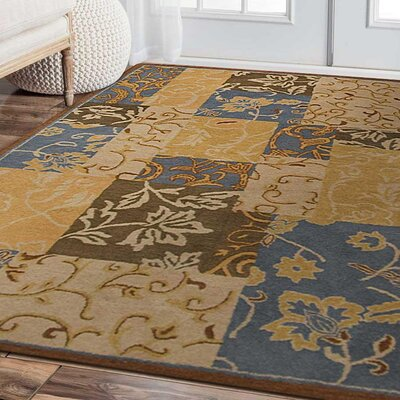 Crider Hand-Tufted Wool Brown Area Rug Rug Size: Rectangle 4 x 6