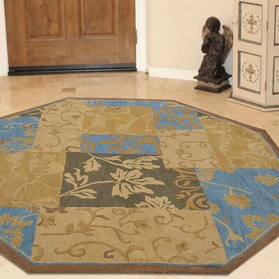 Crider Hand-Tufted Wool Brown Area Rug Rug Size: Octagon 8