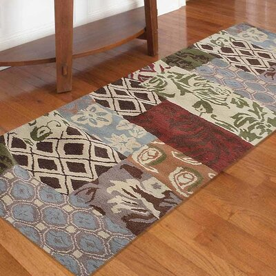 Crider Hand-Tufted Wool Brown/Green Area Rug Rug Size: Runner 26 x 10
