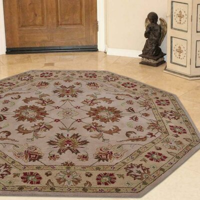 Lindauer Hand-Tufted Wool Cream Area Rug