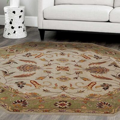 Lindauer Hand-Tufted Wool Cream/Green Area Rug