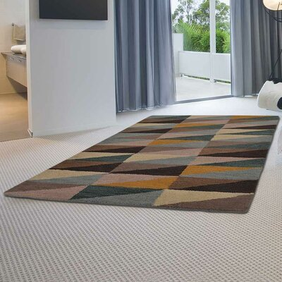 Chow Hand-Tufted Wool Black/Brown Area Rug Rug Size: Rectangle 9 x 12