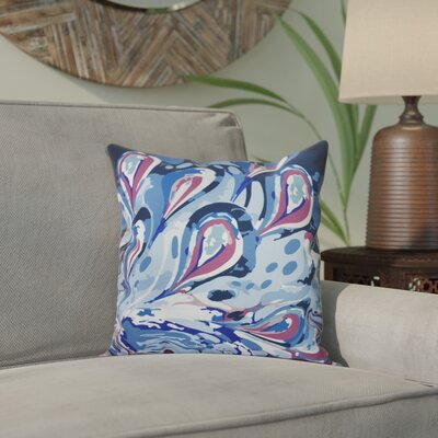 Willa Boho Splash Geometric Print Throw Pillow Size: 18 H x 18 W, Color: Blue