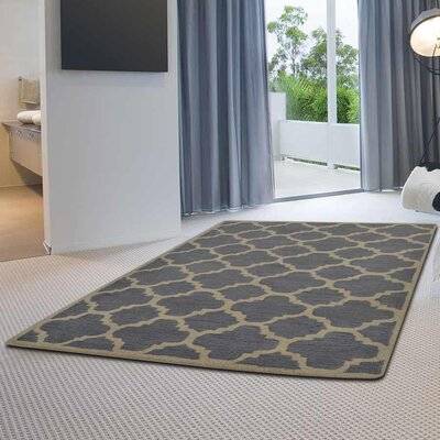 Minor Hand-Tufted Wool Blue/Cream Area Rug