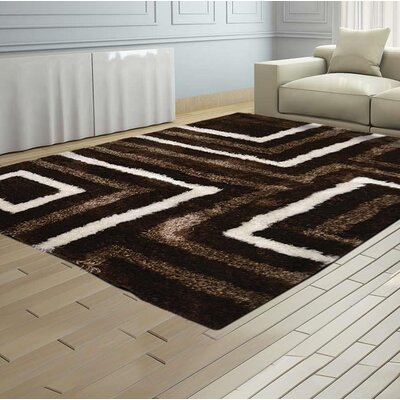 Haveman Hand-Tufted Brown Area Rug