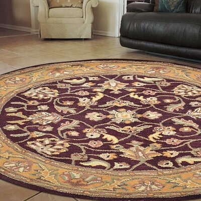 Minor Hand-Tufted Wool Maroon/Beige Area Rug