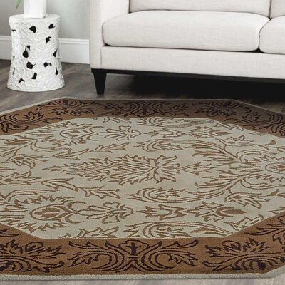 Bensenville Hand-Tufted Wool Beige/Brown Area Rug