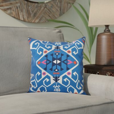Oliver Jodhpur Medallion Geometric Print Throw Pillow Size: 26 H x 26 W, Color: Blue