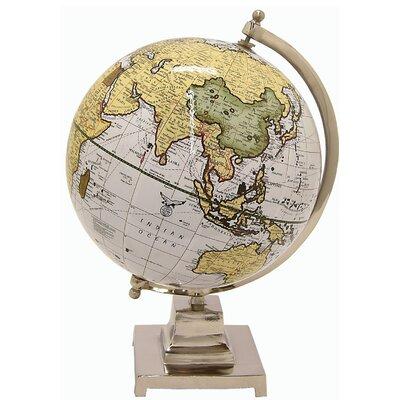 "Globe Sculpture Size: 10"" H x 6"" W x 6"" D 44EB5D468FE34F23978BD683B5DCDD24"