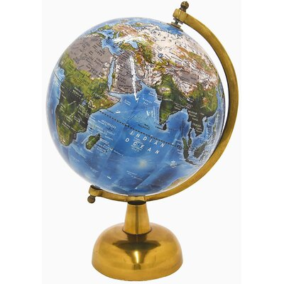 "Galan Globe Sculpture Size: 14"" H x 8"" W x 8"" D 462C763673624B63AF222961E25912EF"