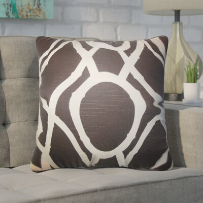 Wolfgang Geometric Cotton Throw Pillow Color: Brown