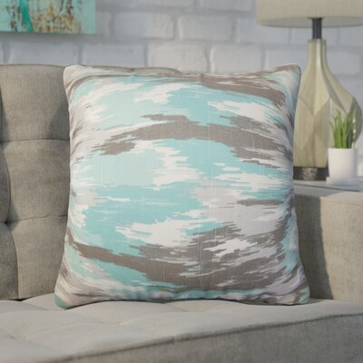 Wilner Ikat Cotton Throw Pillow
