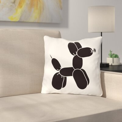 Spahr Dog Throw Pillow Color: Black, Size: 18 x 18
