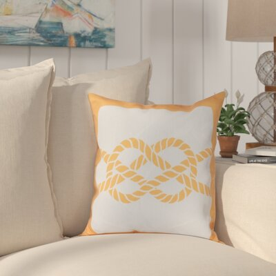 Hancock Nautical Knot Geometric Throw Pillow Size: 26 H x 26 W, Color: Yellow