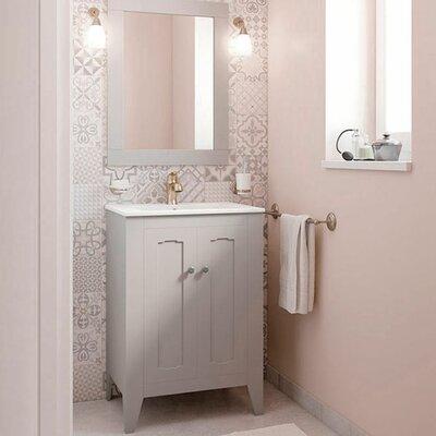 Leonardo Classic Vintage 24 Single Bathroom Vanity Set with Mirror Base Finish: Gray
