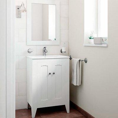 Leonardo Classic Vintage 24 Single Bathroom Vanity Set with Mirror Base Finish: White