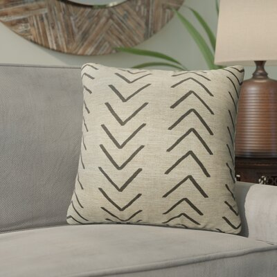 Bemelle Mud Cloth Throw Pillow with Double Sided Print Size: 24 H x 24 W, Color: Taupe/ Black