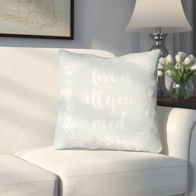 Lyle Indoor/Outdoor Throw Pillow Size: 18 H x 18 W x 4 D, Color: Blue
