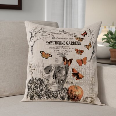 Hawthorne Gardens Square Throw Pillow